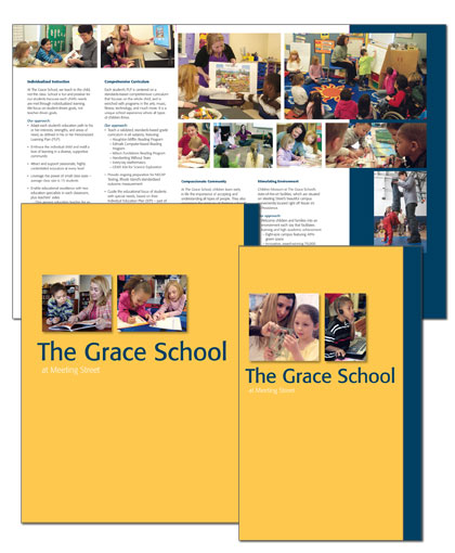 The Grace School admission folder and brochure